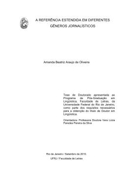Faça o da versão em PDF - Faculdade de Letras
