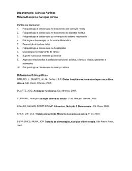 Departamento: Ciências Agrárias Matéria/Disciplina