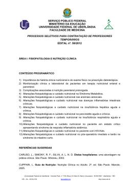 Conteúdo Programático - Universidade Federal de Uberlândia