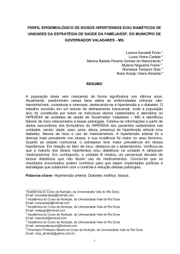 perfil epidemiológico de idosos hipertensos e/ou