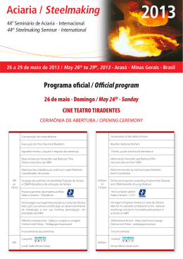 Programa oficial / Official program