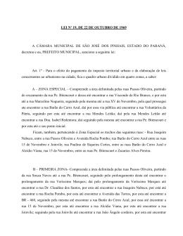 LEI Nº 23/69 - Prefeitura de São José dos Pinhais