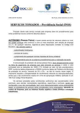 Circular 035/2015 - Notas Fiscais