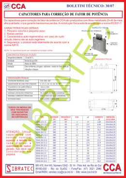 Inf.30 - Capacitores para correção de fator de potencia