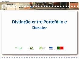 Distinção entre Portefólio e Dossier