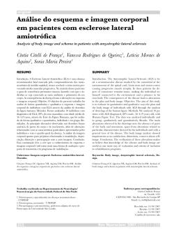 Análise do esquema e imagem corporal em pacientes com