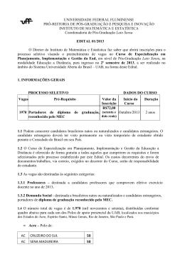 Edital - LANTE – UFF - Universidade Federal Fluminense