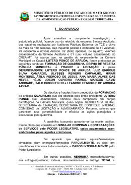 Ofício nº - Ministério Público do Estado de Mato Grosso
