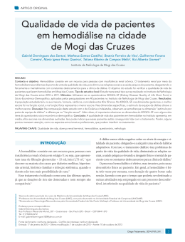 Qualidade de vida de pacientes em hemodiálise na cidade de Mogi