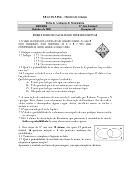 Ficha 1 - Matemática