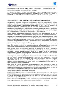 Carta da Sra. Marlene de Oliveira Camargo, protocolada na