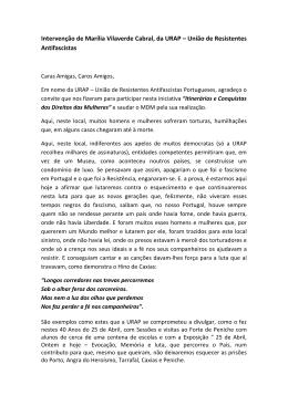 Intervenção de Marília Vilaverde Cabral, da URAP – União