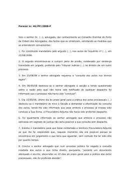 Parecer n.º 46-PP-2008-P