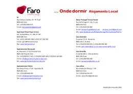 Atualizado em junho 2015 AL Rua Ventura Coelho, 24