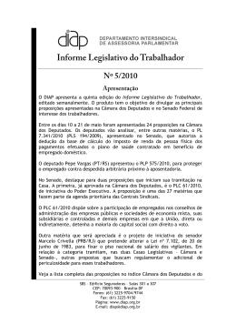 Informe Legislativo do Trabalhador nº 5