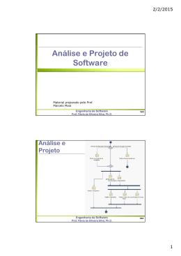 Análise e Projeto de Software