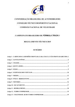 confederação brasileira de automobilismo conselho técnico
