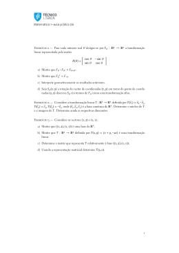 Matemática —aula prática E                 .— Para cada número real