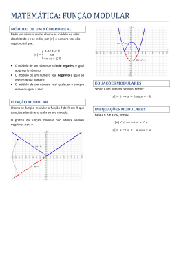 função modular - Professora Renata Quartieri