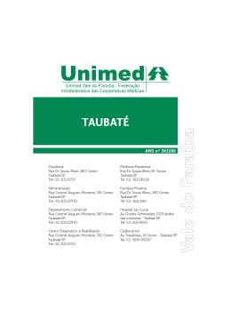TAUBATÉ - Unimed - Federação Intrafederativa do Vale do Paraíba