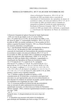 DIRETORIA COLEGIADA RESOLUÇÃO