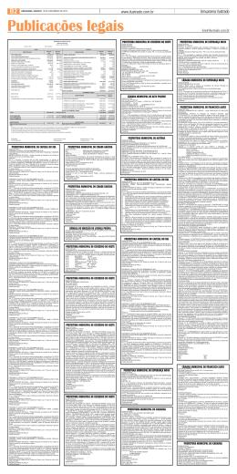 Publicações legais