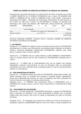 TERMO DE CESSÃO DE DIREITOS AUTORAIS E DE