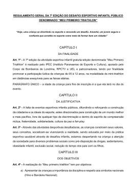 Regulamento do Evento – 2015 – Clique Aqui