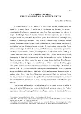 CALANDO PARA RESISTIR: UM ESTUDO DO SILÊNCIO