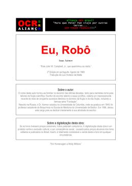 Eu, Robô - Plano Nacional de Leitura