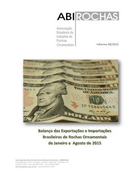 Balanço das Exportações e Importações Brasileiras