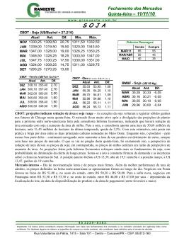 Fazer do Relatório Diário de 11/11/2010