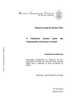 Roberto Gurgel de Oliveira Filho O tratamento jurídico