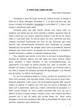 A fonte que jorra em nós - Maria Flávia Figueiredo