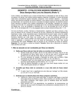 DESERTO - O PALCO DOS NOSSOS DRAMAS (1)