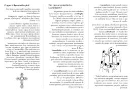O que é Reconciliação? - Paróquia da Santíssima Trindade