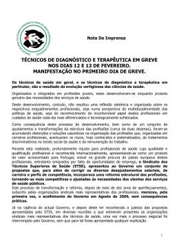 Nota remetida a 6/02/2015 - Sindicato Nacional dos Técnicos
