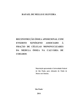 rafael de mello e oliveira reconstrução óssea aposicional