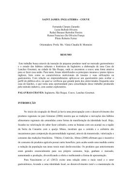 SAINT JAMES: INGLATERRA – COUVE Fernanda