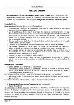 REDAÇÃO OFICIAL MPU - Professor Edson Ribeiro