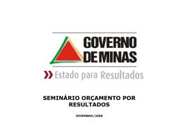 Gerenciamento por resultados no Estado de Minas Gerais