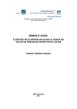 GEMAS E JOIAS: - Mestrado em Design