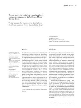 Uso da autópsia verbal na investigação de óbitos com causa mal