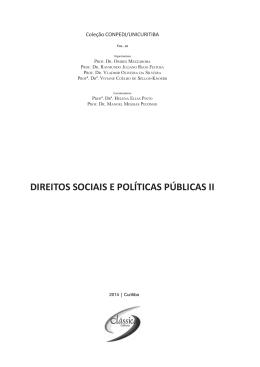 DIREITOS SOCIAIS E POLÍTICAS PÚBLICAS II