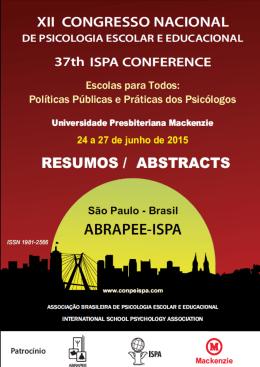 XII Congresso Nacional de Psicologia Escolar e