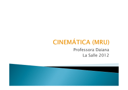 (Microsoft PowerPoint - Cinem\341tica Movimento Uniforme)