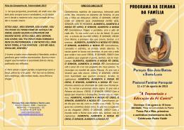 folder oficial 2013 - Paróquia São João Batista e Santa Luzia