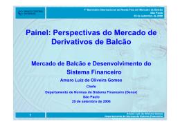 Painel: Perspectivas do Mercado de Derivativos de Balcão