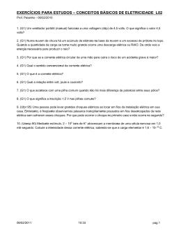 exercícios para estudos – conceitos básicos de eletricidade l02