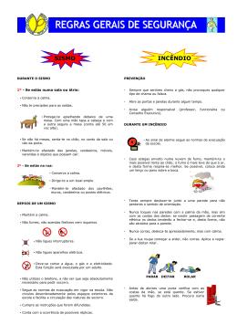 Normas de Evacuação e Sinalética